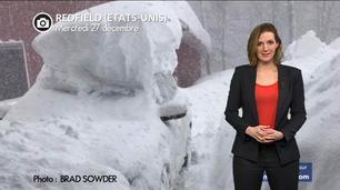 Vidéo Neige record et grand froid aux USA