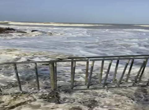 Vague de submersion en Normandie