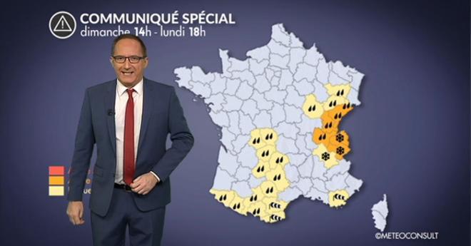 Vidéo Alerte météo : fortes pluies sur le Centre-est et vents forts dans le sud