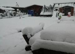 Château-Renault 37110 Mercredi 7 fevrier matin chute de neige importante
