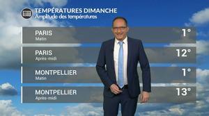 Vidéo Météo dimanche : belle amplitude des températures