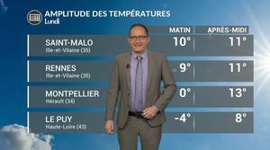 Vidéo Météo lundi : temps perturbé avec des températures contrastées