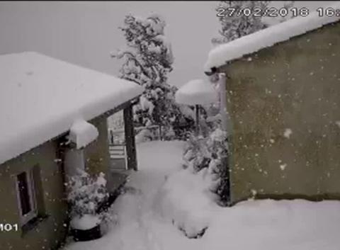 Chute de neige haute corse 45cm