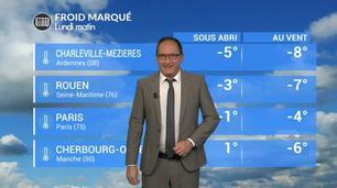 Vidéo Météo de votre lundi : un froid glacial sur la moitié nord