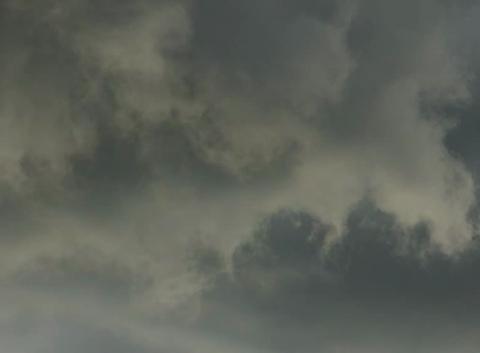 Rotation des nuages durant un orage.