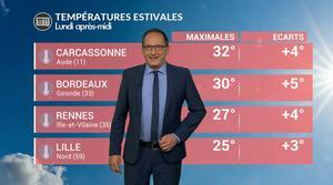 Vidéo Météo de ce lundi : les températures progressent !