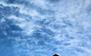 Ciel Saint-Lezer 65500 Ciel de St Lézer Lundi 23 octobre 2017.
